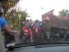normale Verkehrssituation in Kuta, Motorbikes allüberall
