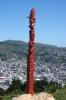 Maori-Schnitzereien auf dem Mount Victoria