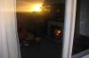 Draussen Sunset, drinnen gemütliches Feuer im Kamin - schön!