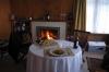 Der muckeliche Kamin samt Abendessen!