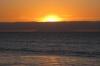 sunset - unten leuchtet die Südinsel durch