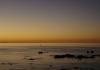 Sunset auf dem Heimweg zwischen Mana Island und Kapiti Island, am Himmel die Venus