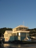 Plimmerton Boating Club in der Abendsonne