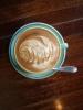 Farne auch im Kaffee... Fruehstueck in der Peppermill Deli in Porirua